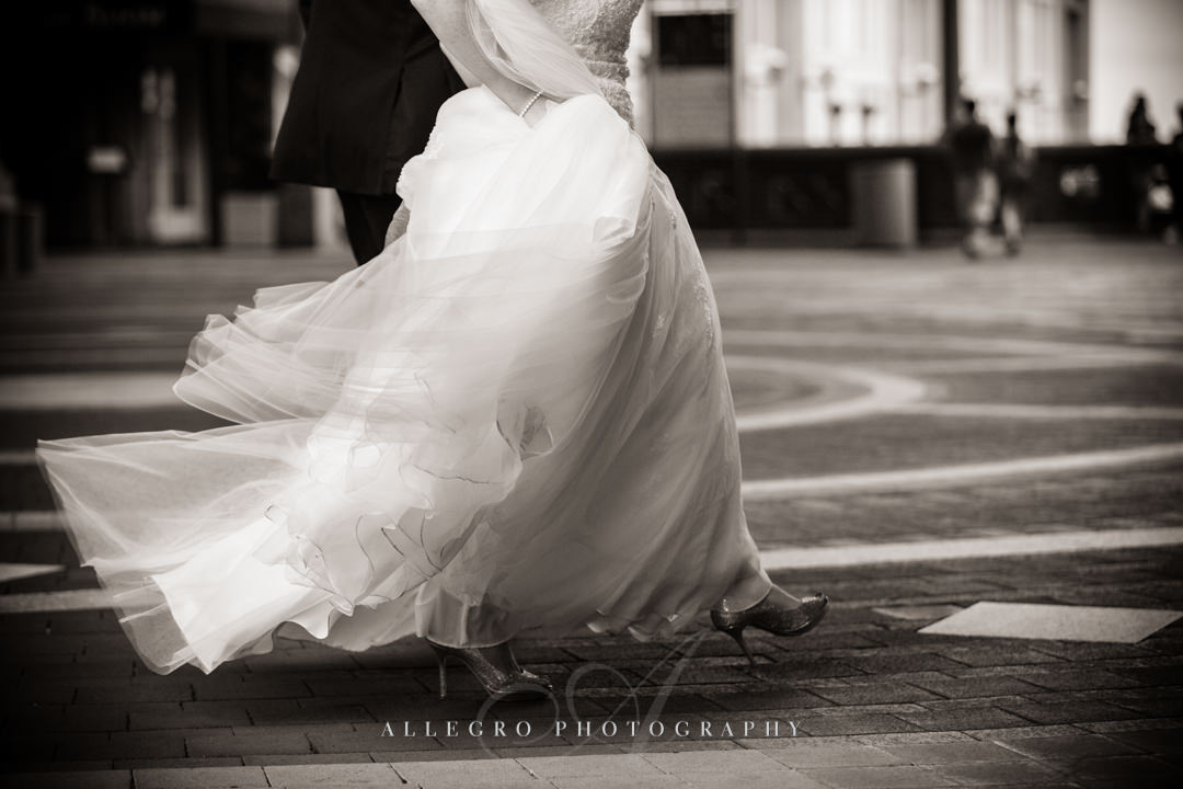 boston wedding dress - photo by allegro photography