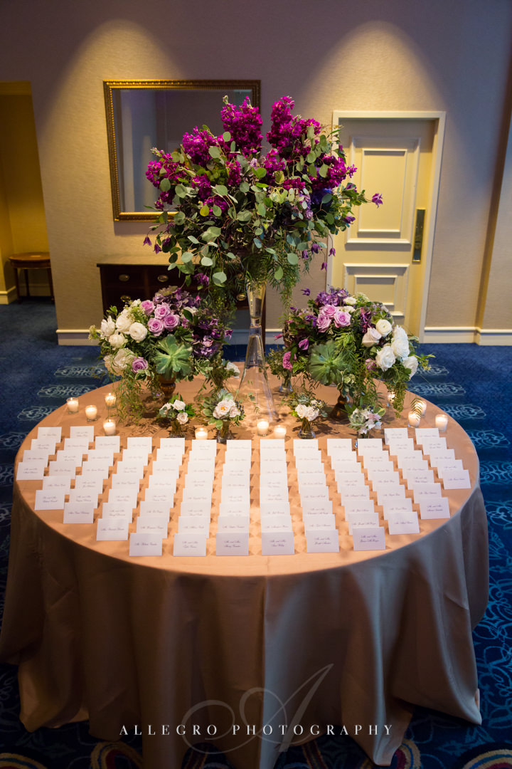 boston harbor hotel reception table - photo by allegro photography