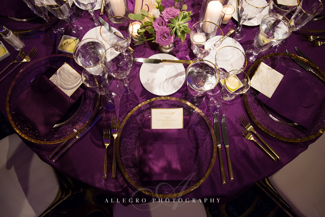 boston harbor hotel table decor - photo by allegro photography