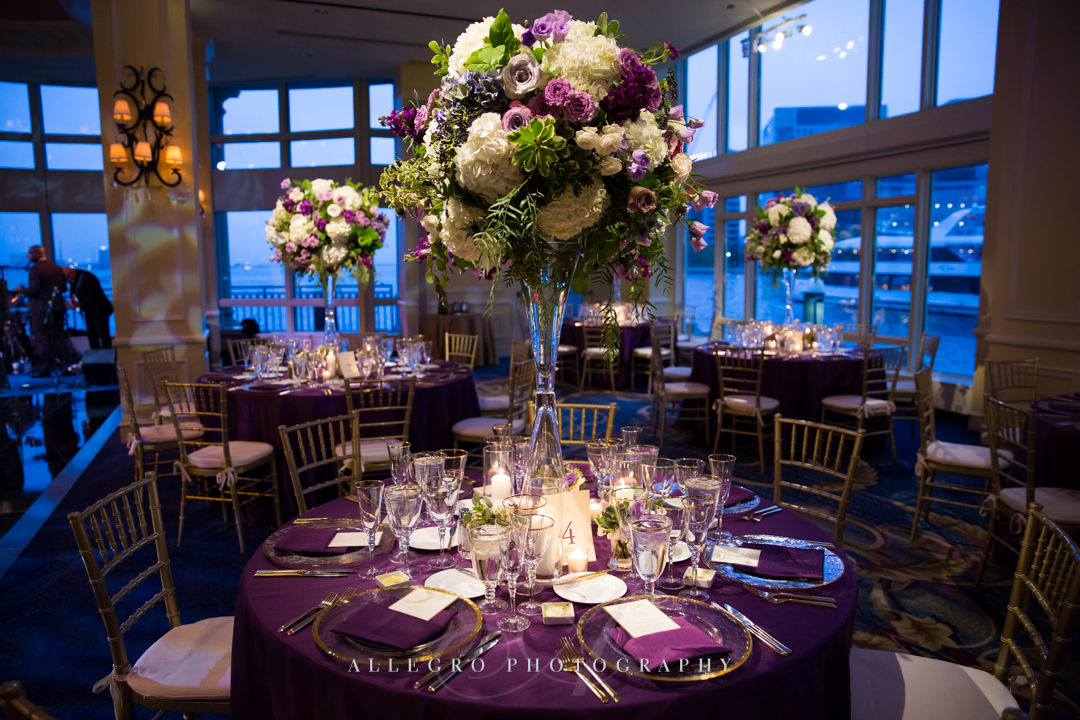 boston harbor hotel wedding decor - photo by allegro photography
