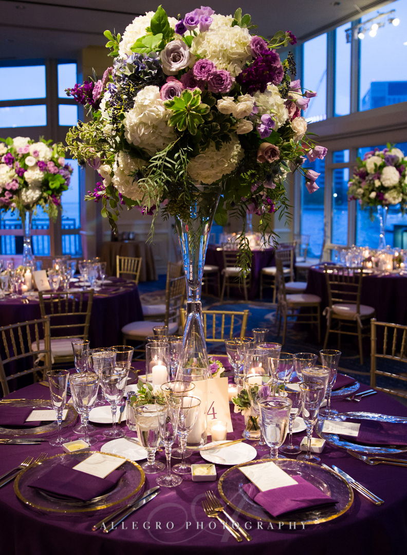 boston harbor hotel wedding flowers - photo by allegro photography