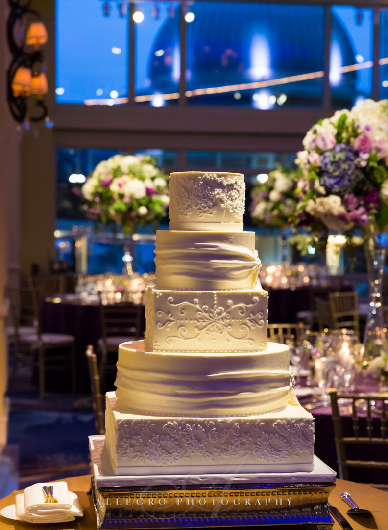 boston harbor hotel wedding cake - photo by allegro photography