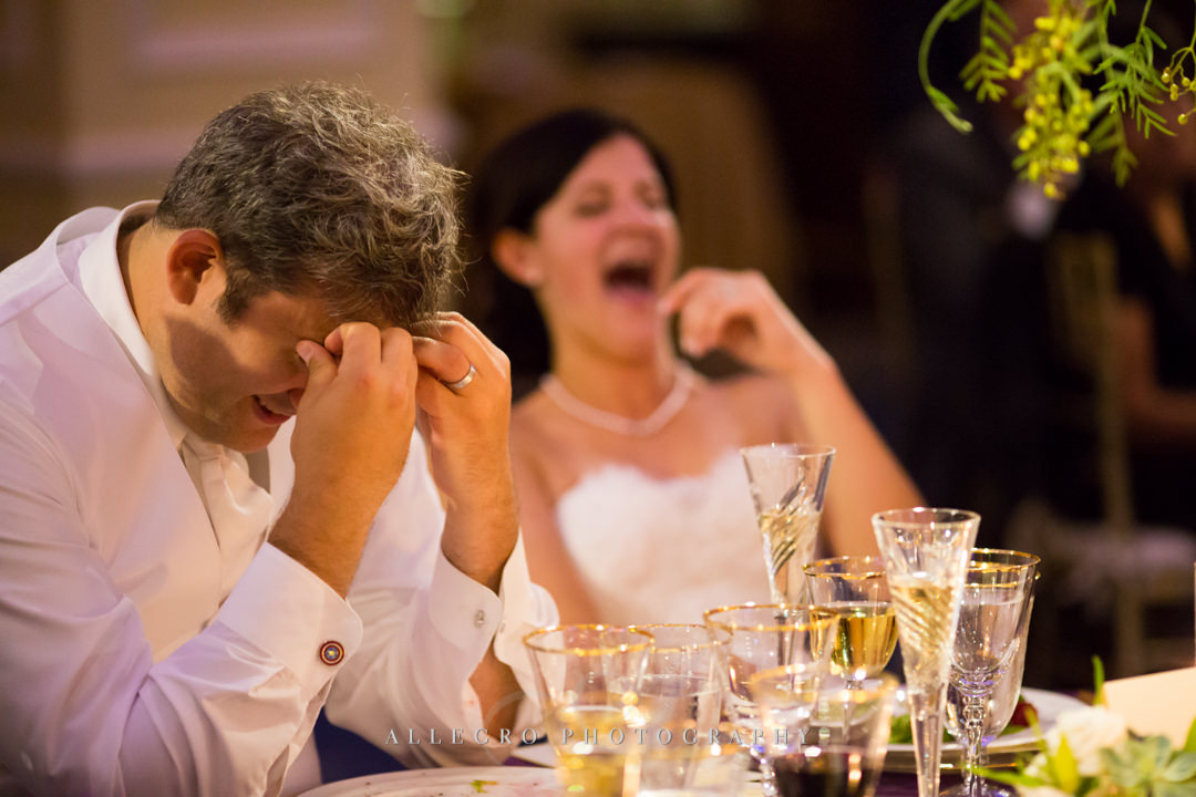 hilarious best man speech boston wedding - photo by allegro photography
