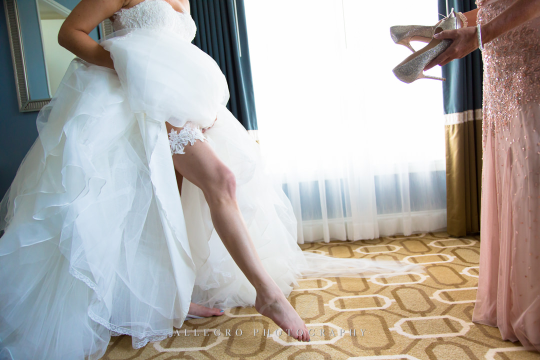 Boston Wedding photo, Bride's garter - photo by allegro photography