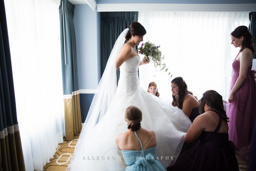 Bride getting ready at Boston wedding - photo by allegro photography