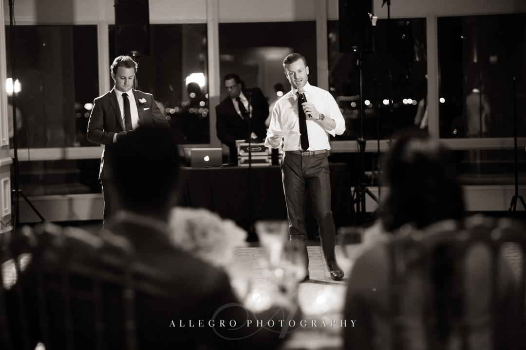 wedding toasts at the boston harbor hotel - photo by allegro photography