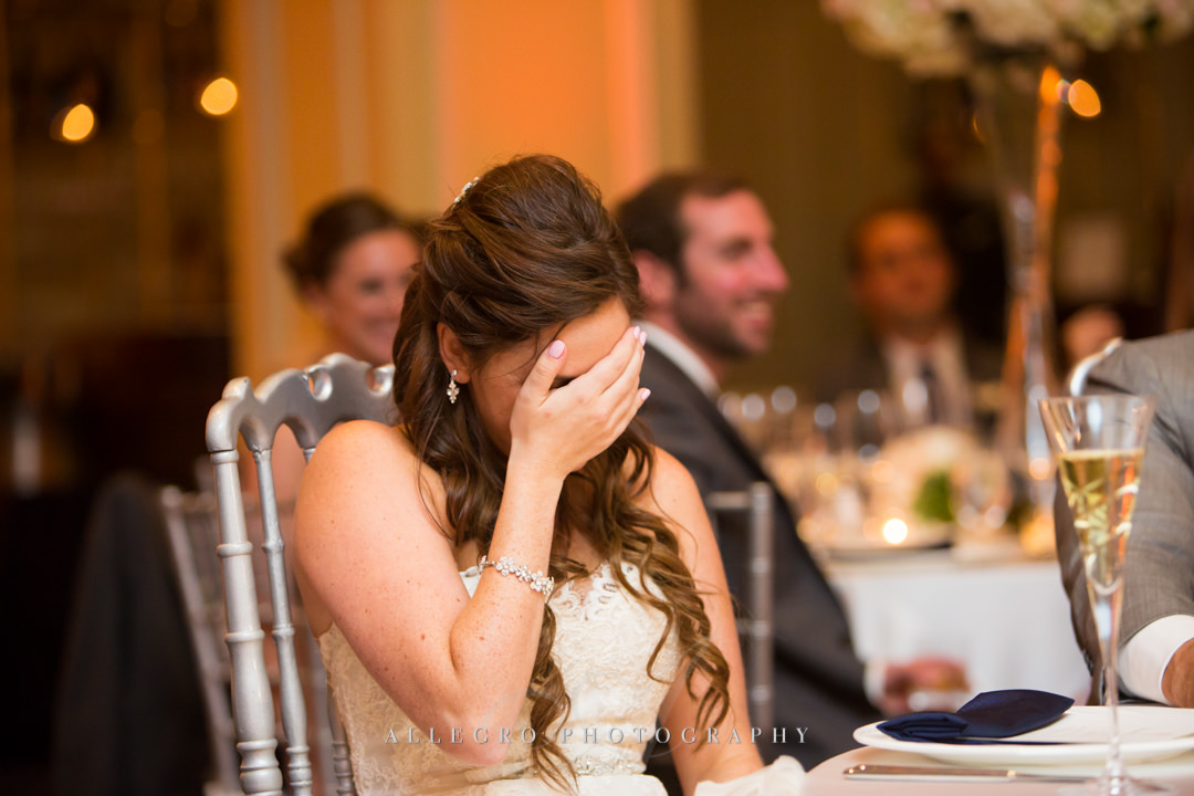 emotional bride at the boston harbor hotel - photo by allegro photography