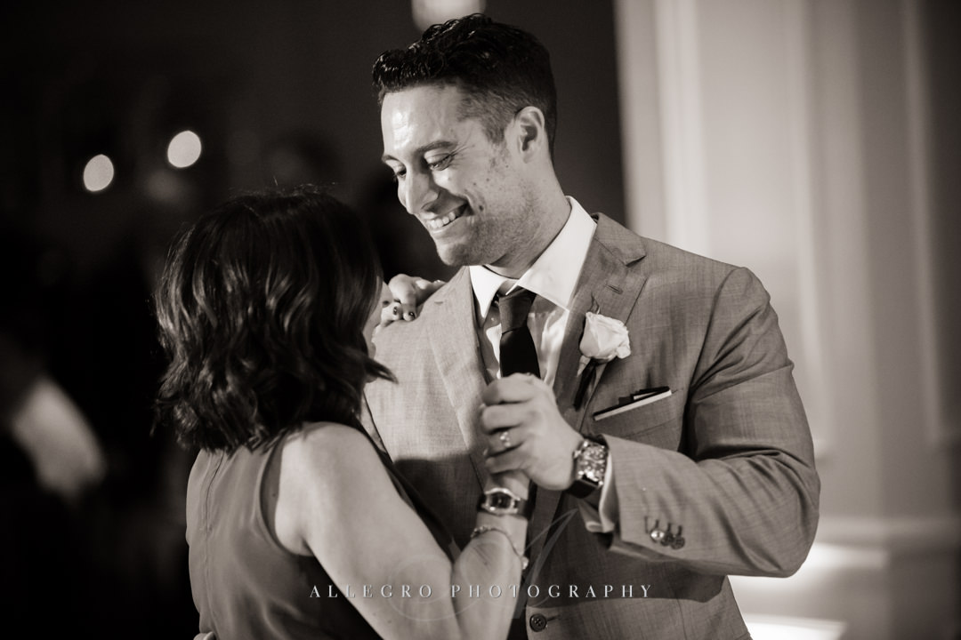 mother son dance at boston harbor hotel wedding - photo by allegro photography