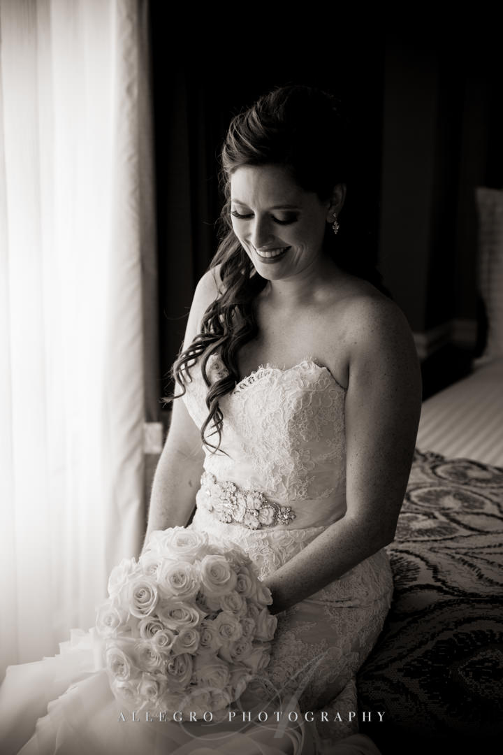 boston harbor hotel bridal portrait - photo by allegro photography
