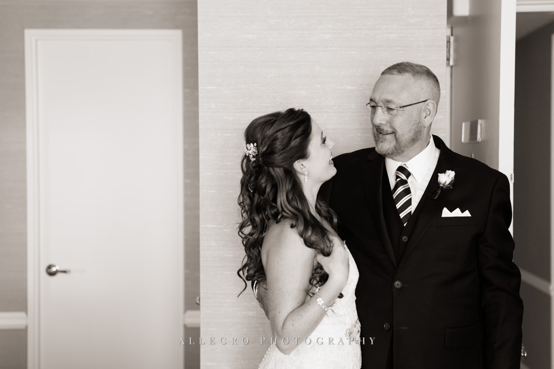 boston harbor hotel bride and father of the bride - photo by allegro photography