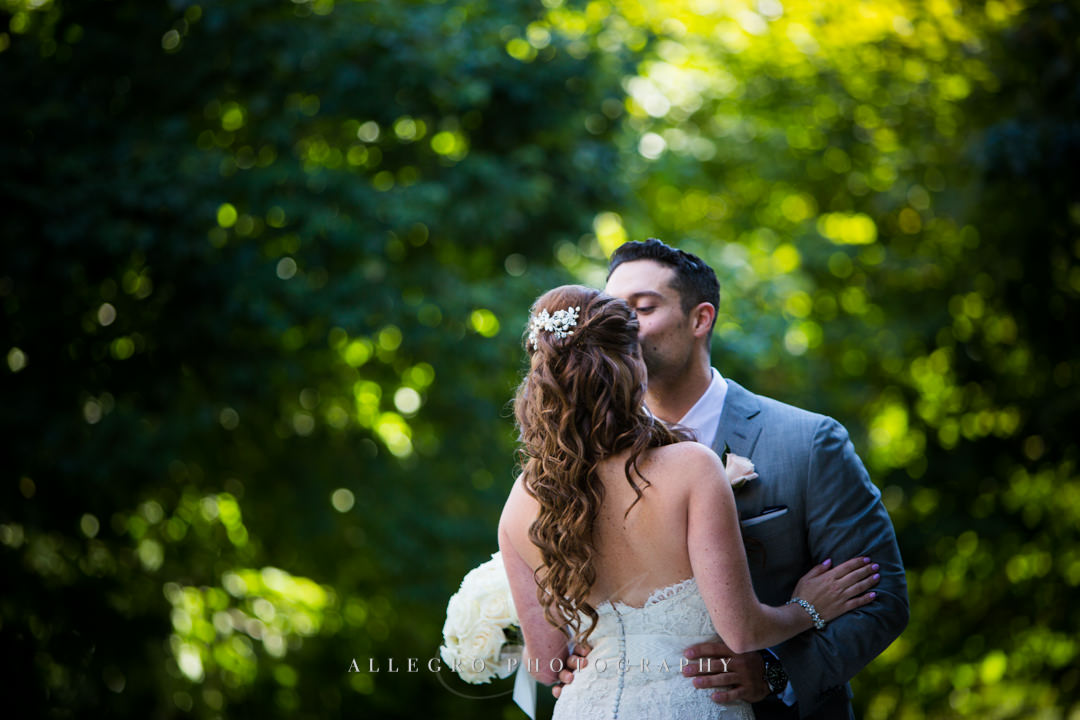 sweet forehead kiss downtown boston wedding - photo by allegro photography