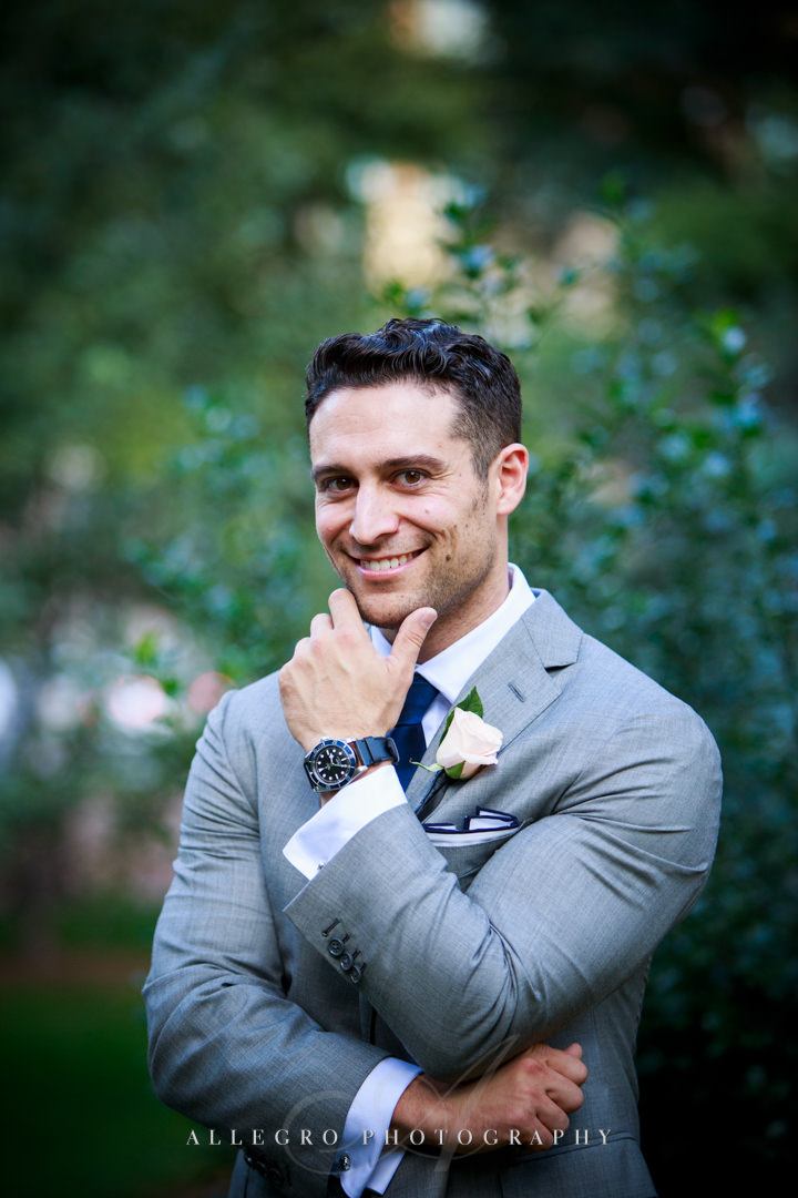 urban boston groom portrait - photo by allegro photography
