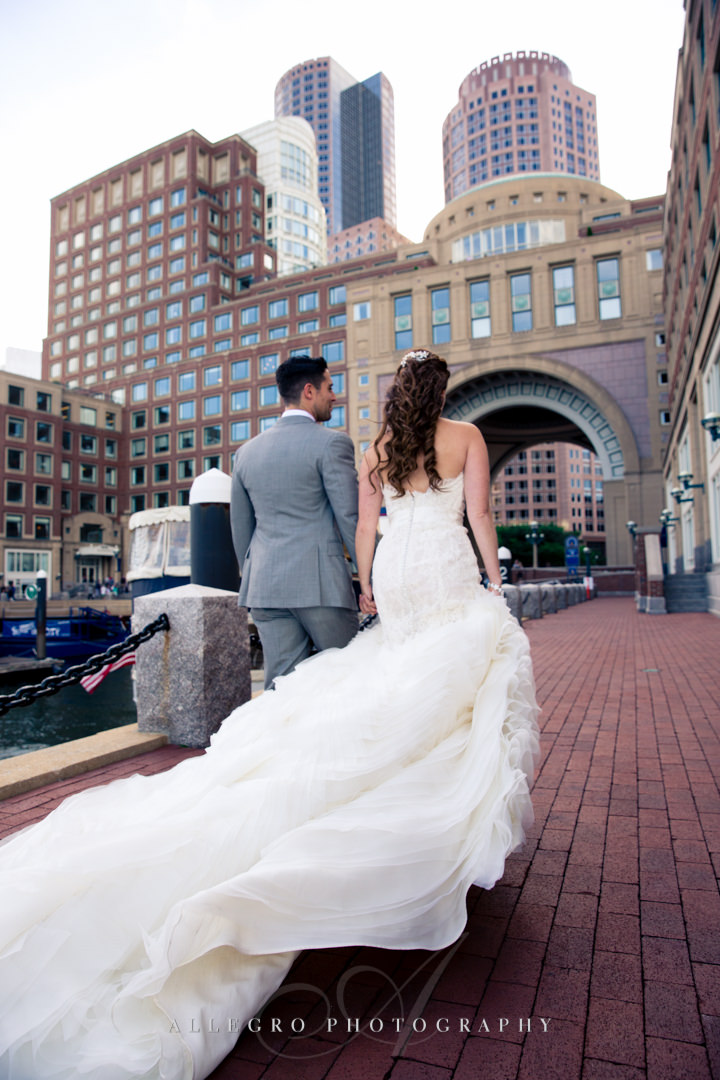 boston harbor hotel wedding portrait - photo by allegro photography