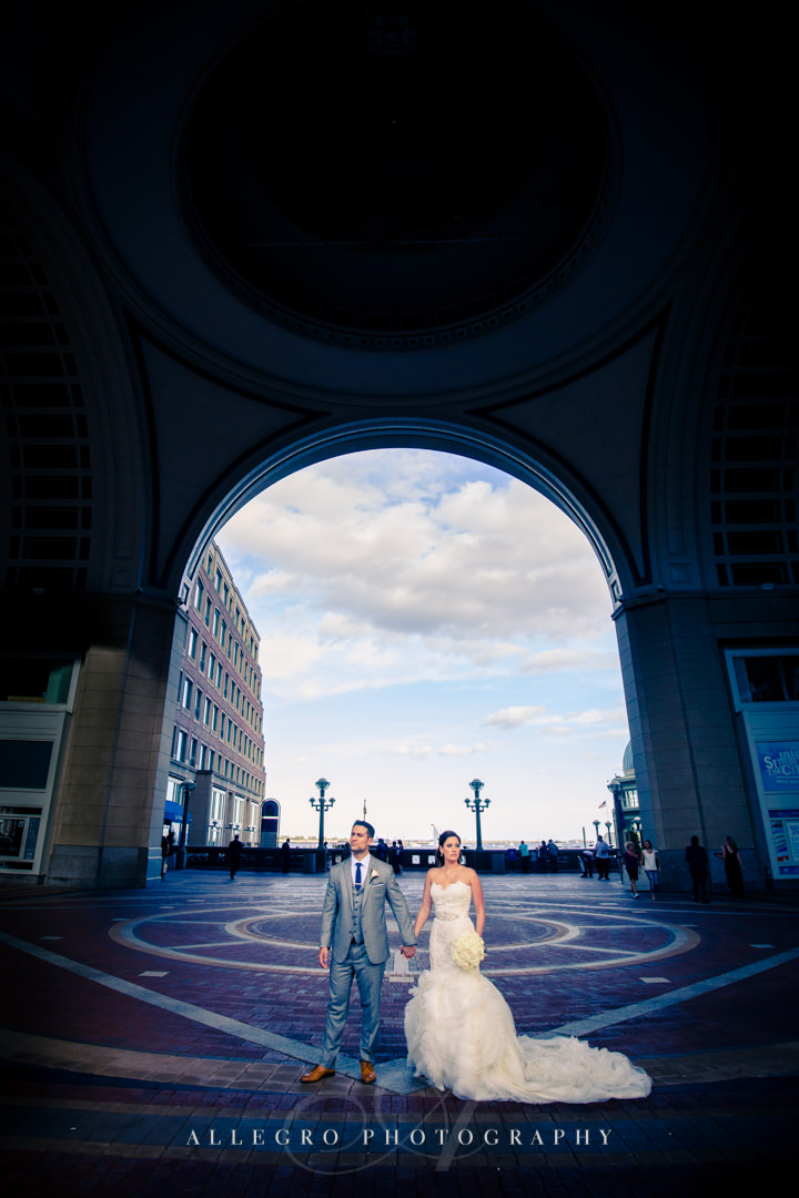 vogue downtown boston wedding portrait - photo by allegro photography