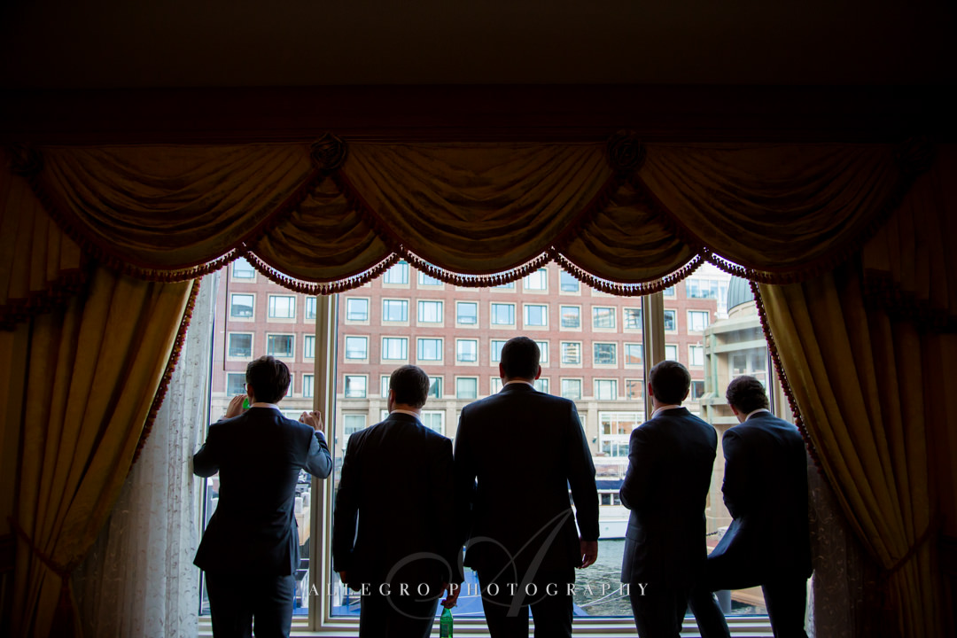 wedding views form the boston harbor hotel - photo by allegro photography