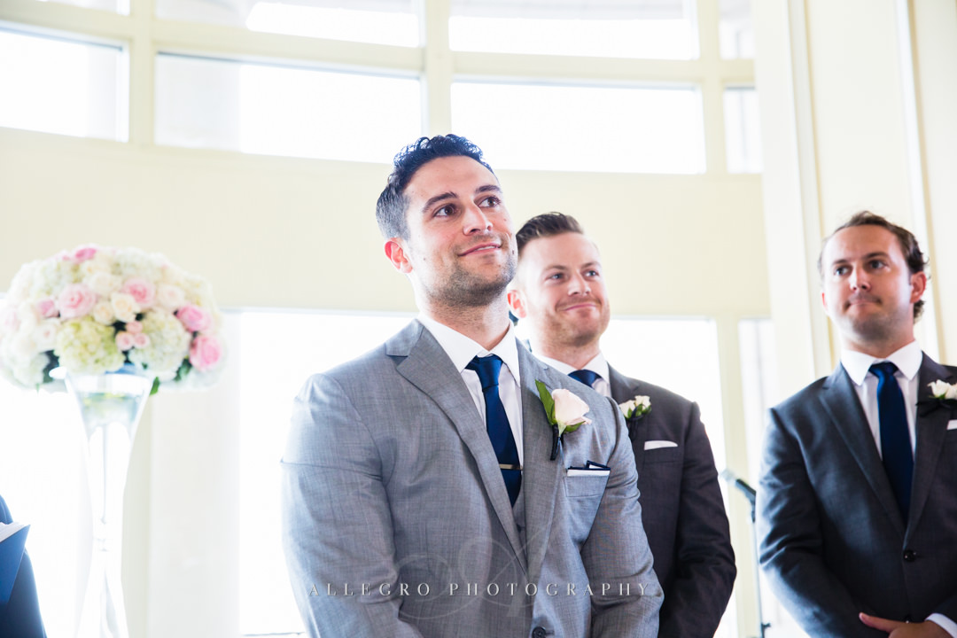 groom at the boston harbor hotel - photo by allegro photography