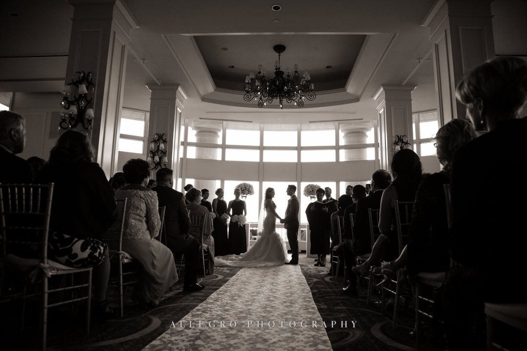 wedding vows at the boston harbor hotel - photo by allegro photography