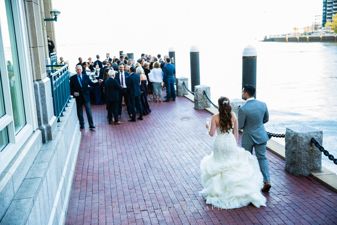 wedding reception in the boston harbor - photo by allegro photography