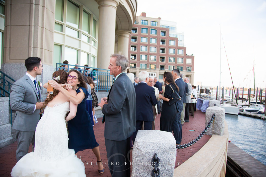 wedding party at the boston harbor - photo by allegro photography