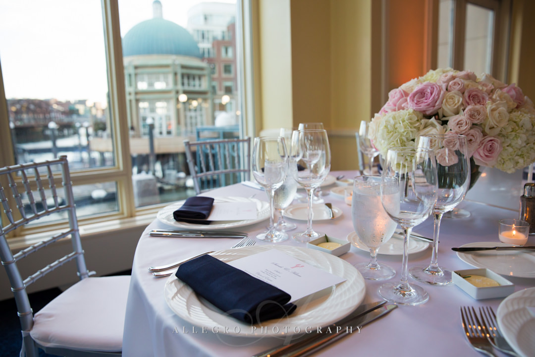 boston harbor hotel place setting - photo by allegro photography