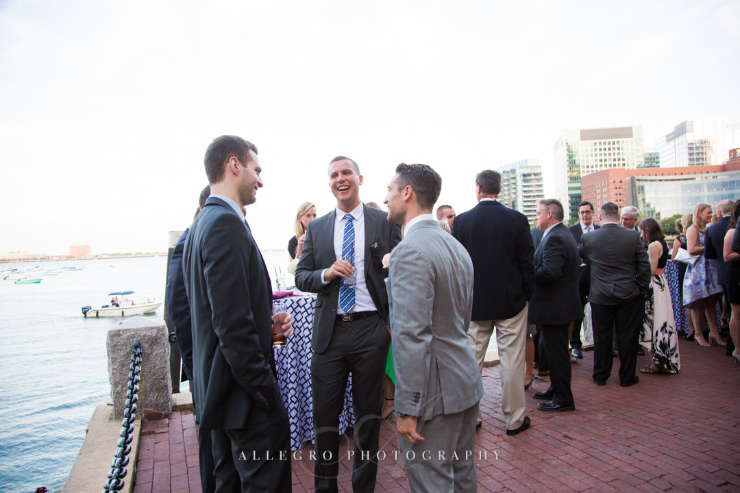 wedding guests at the boston harbor - photo by allegro photography