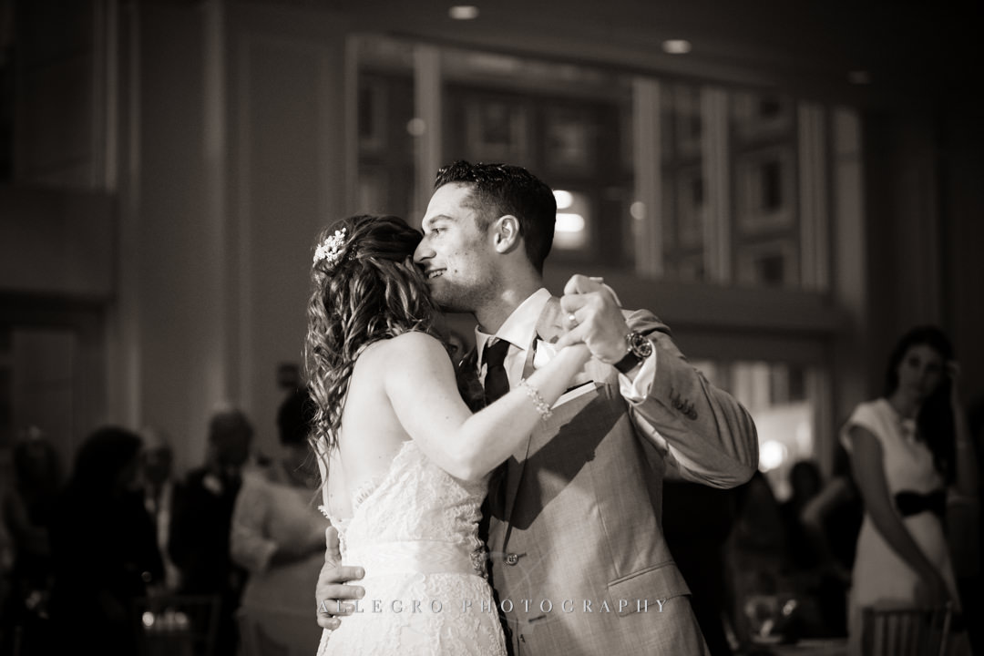first dance at the boston harbor hotel - photo by allegro photography