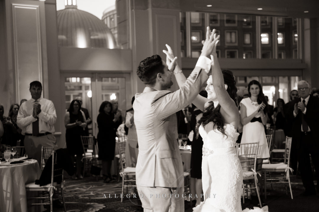 romantic first dance at the boston harbor hotel - photo by allegro photography