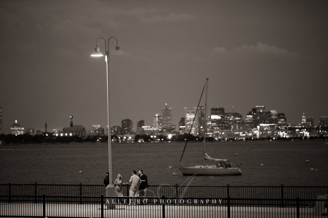 boston harbor skyline view - photo by allegro photography