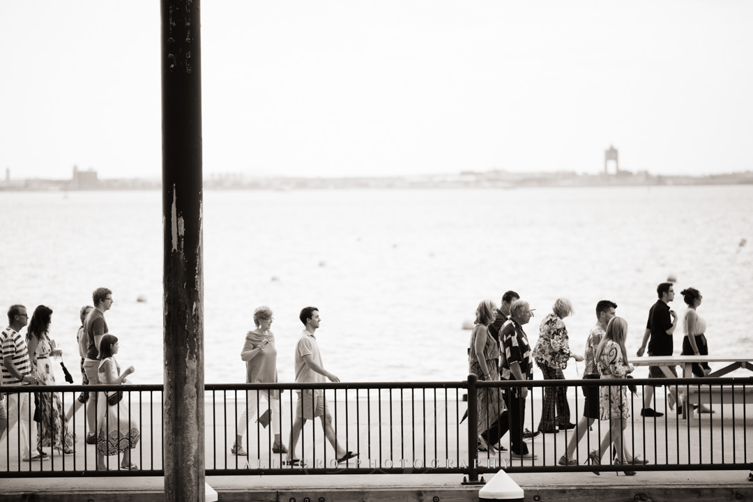 boston harbor island reception - photo by allegro photography