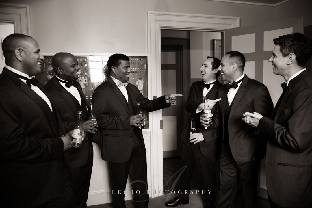 crane estate groomsmen - photo by allegro photography