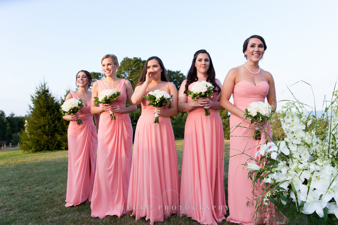 crane estate wedding bridesmaids - photo by allegro photography