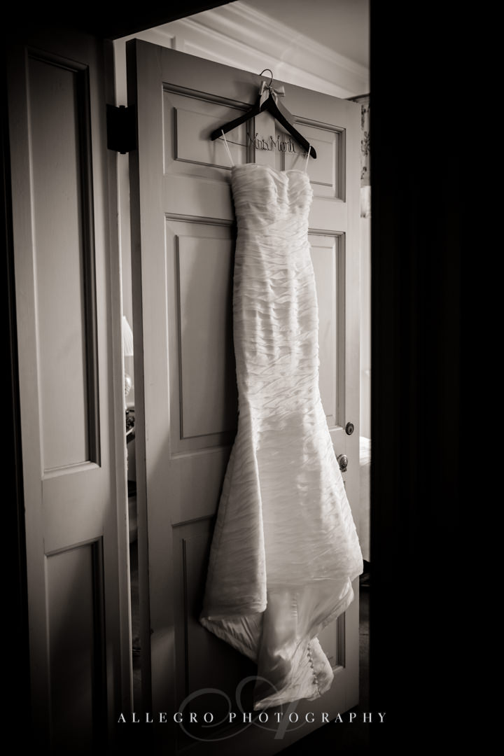 crane estate wedding dress - photo by allegro photography