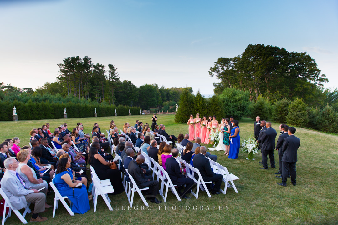 outdoor boston wedding - photo by allegro photography