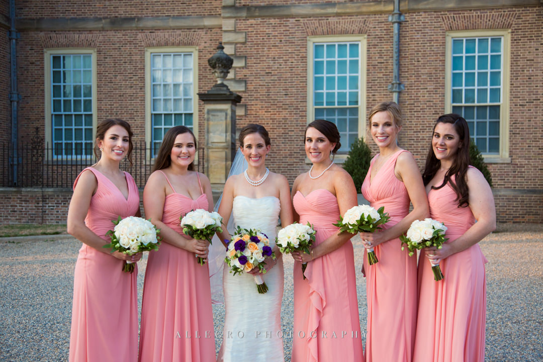 crane estate bridal party - photo by allegro photography