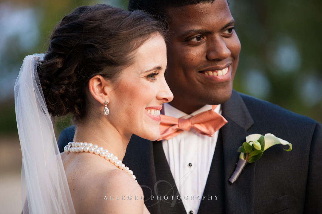 multiracial couple's wedding portrait boston - photo by allegro photography