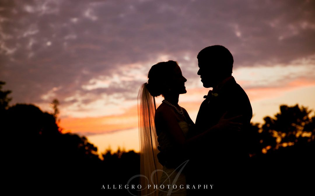 sunset couple at crane estate- photo by allegro photography