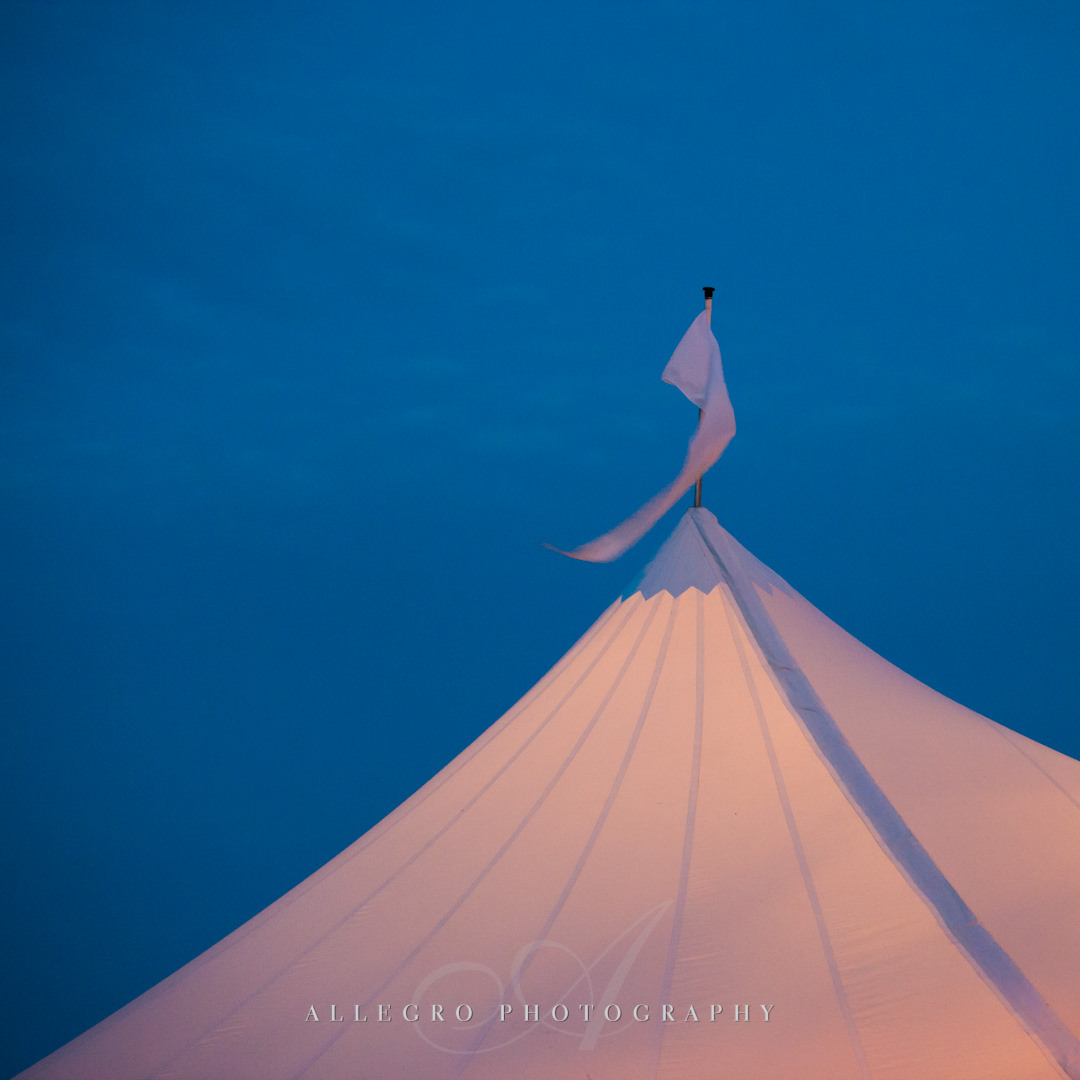 crane estate tent wedding details - photo by Allegro Photography