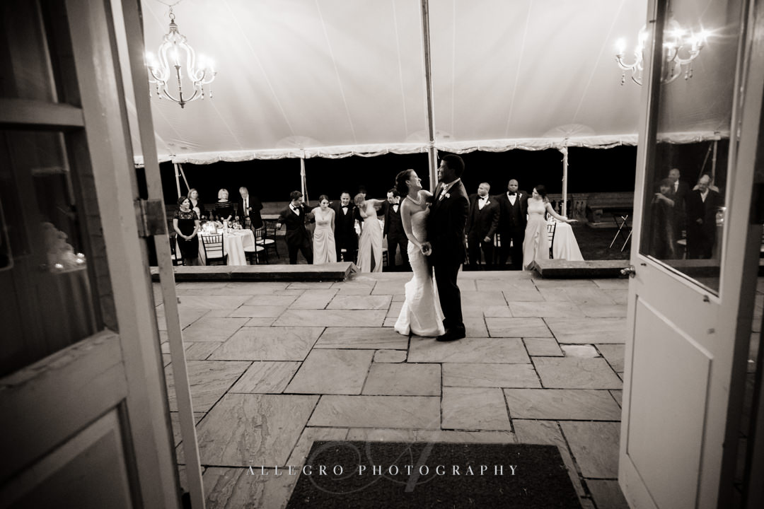 first dance at wedding, crane estate - photo by allegro photography