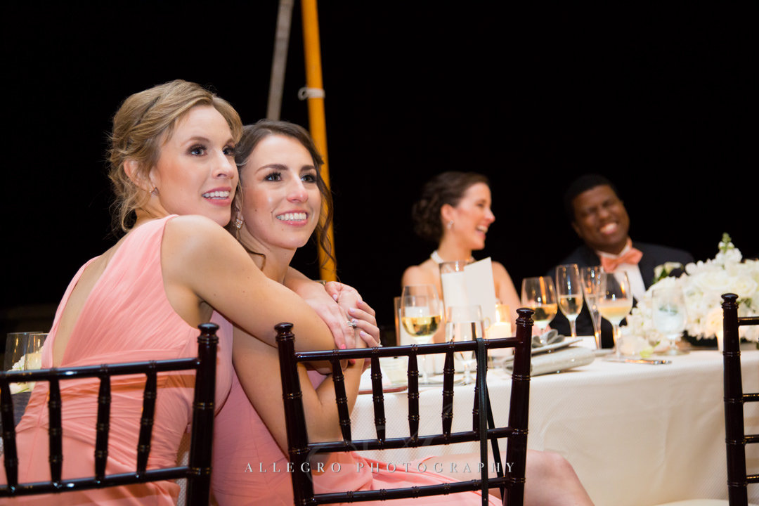 sweet wedding reception moments at the crane estate - photo by allegro photography
