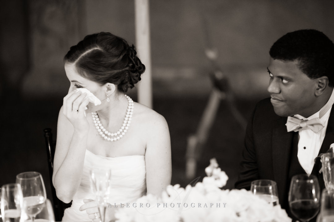 sweet tears at wedding reception - photo by allegro photography
