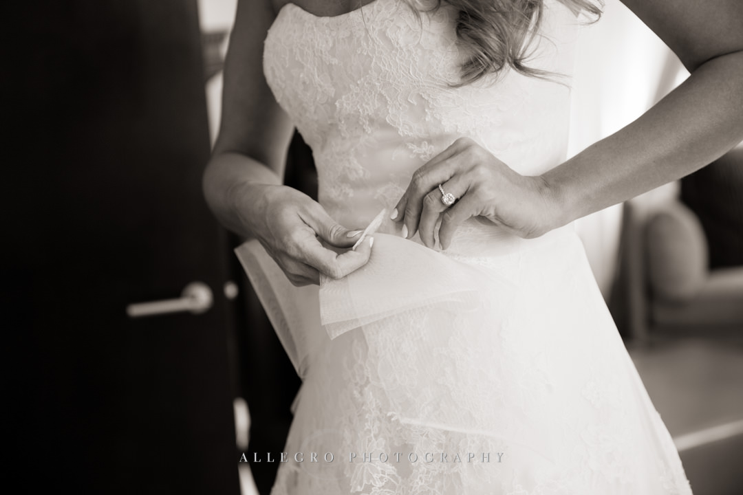 boston bride wedding details - photo by allegro photography