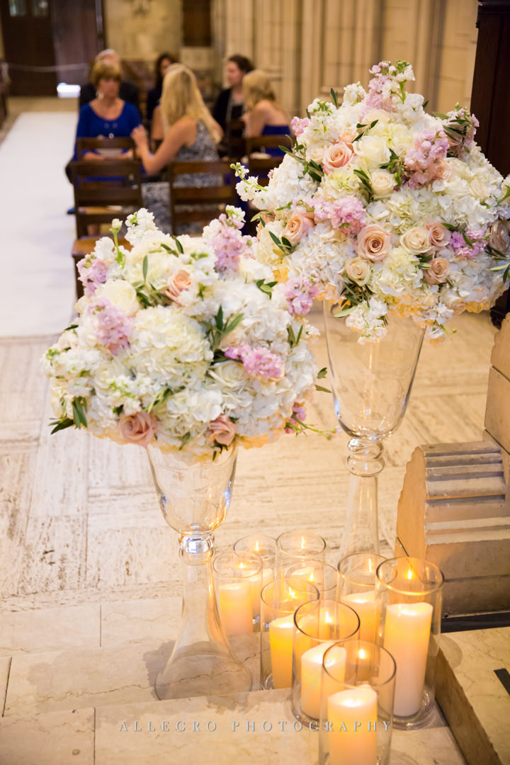boston wedding immanuel church flowers - photo by allegro photography