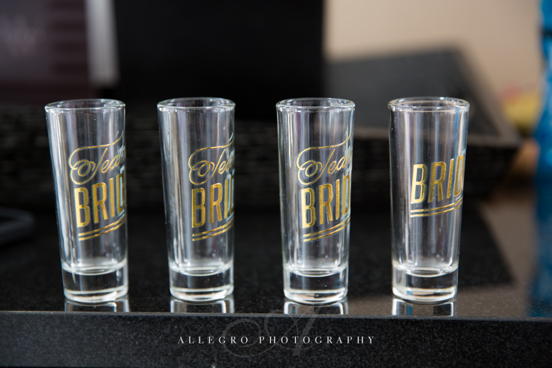 boston wedding details shot glasses - photo by allegro photography