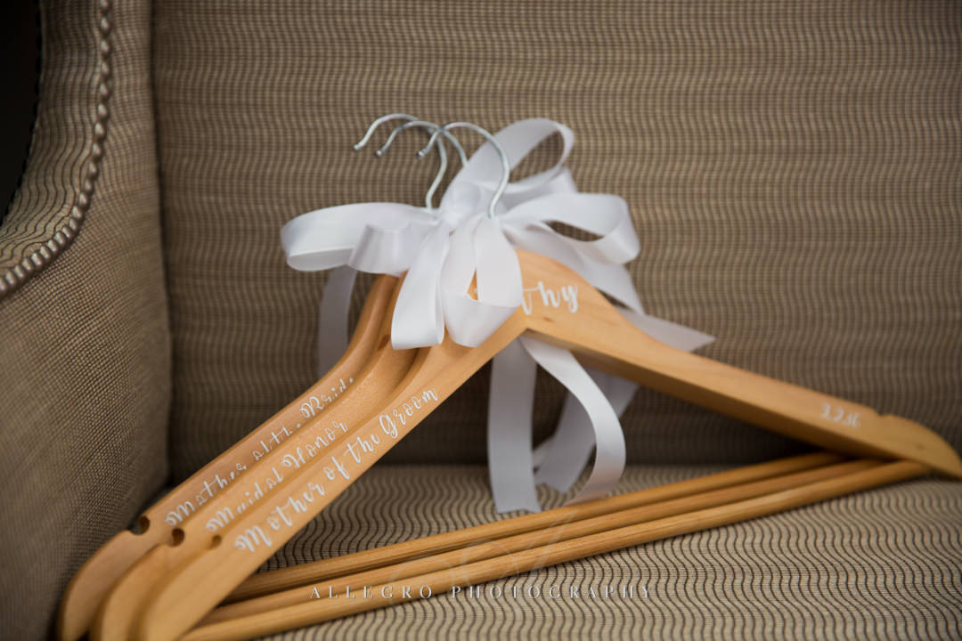 boston wedding custom dress hangers - photo by allegro photography