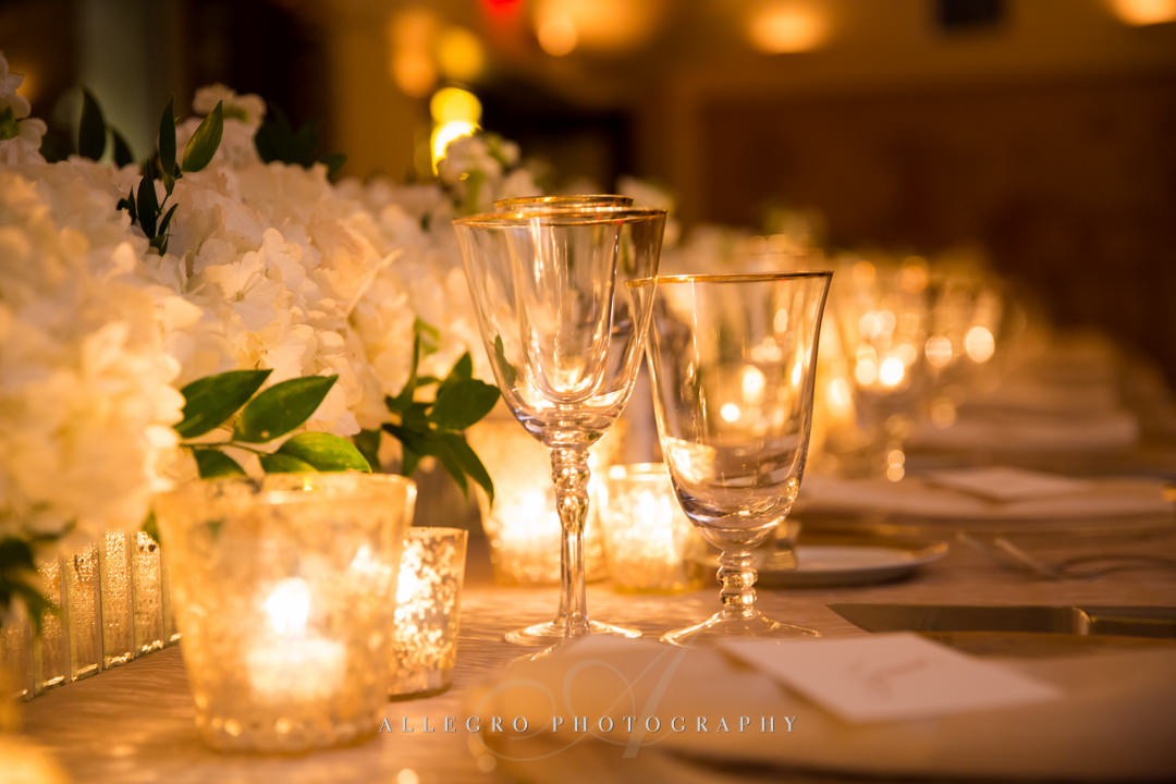 intimate wedding reception boston - photo by allegro photography