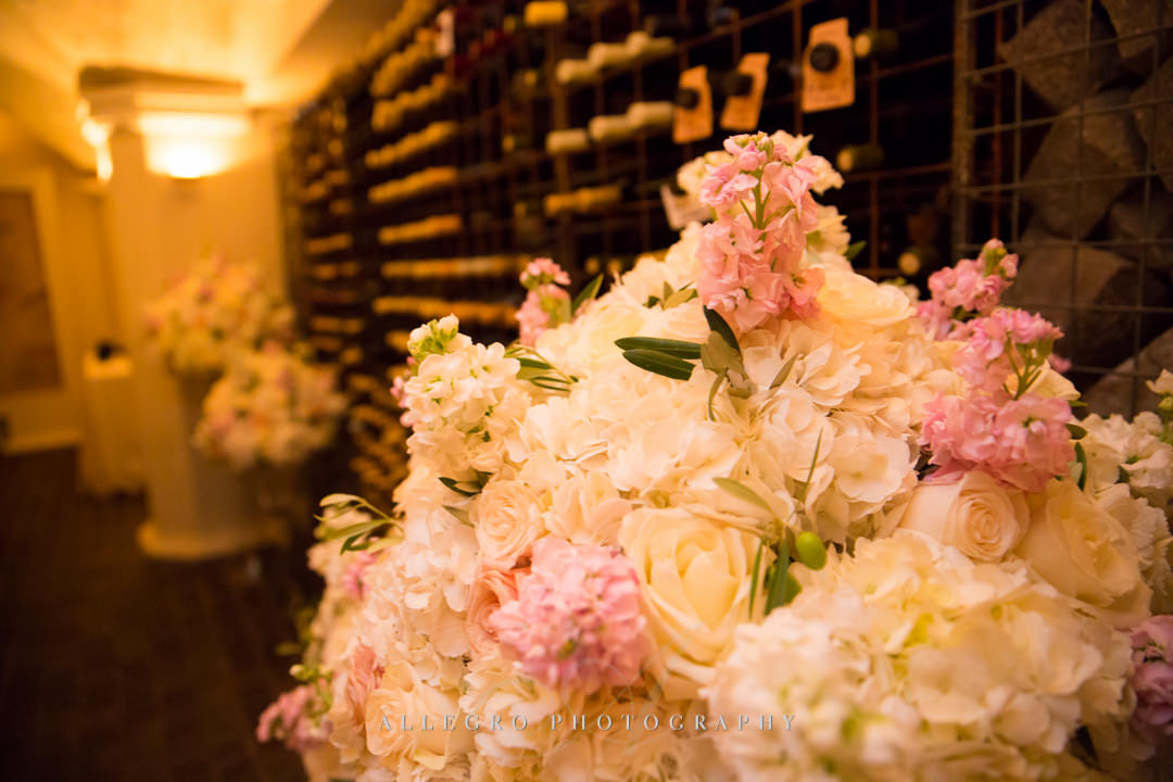 white and pink wedding flowers - photo by allegro photography