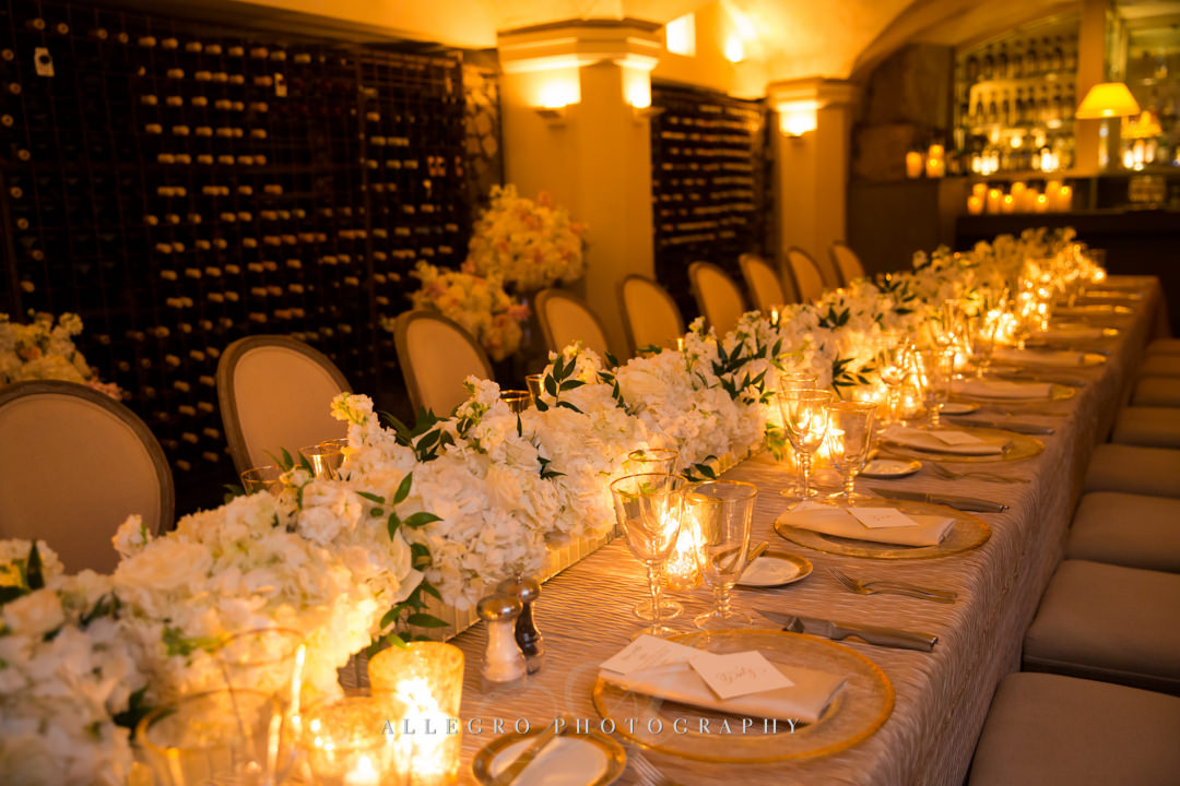 elegant moo restaurant wedding - photo by allegro photography
