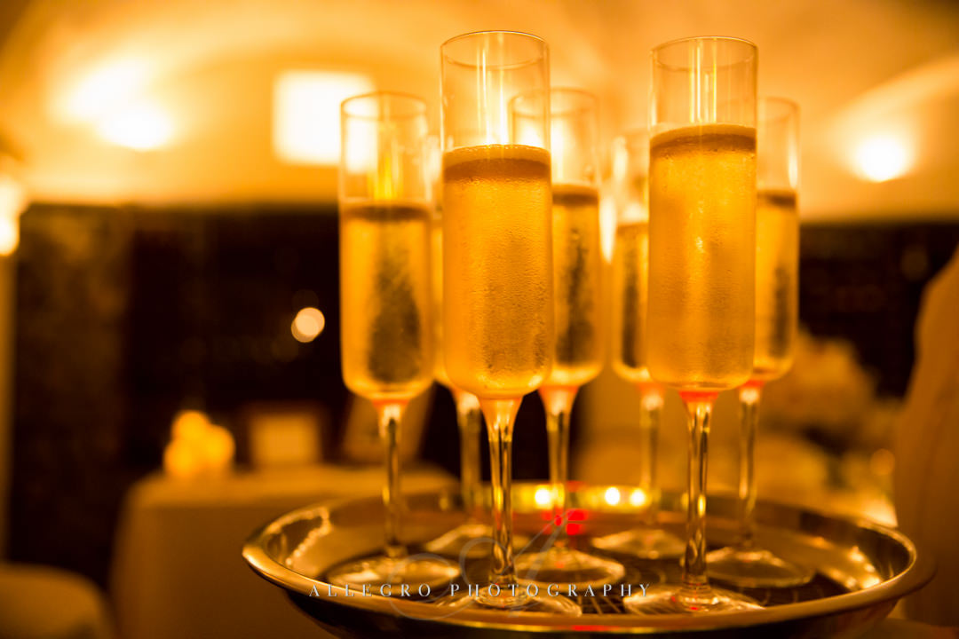 moo restaurant wedding champagne - photo by allegro photography