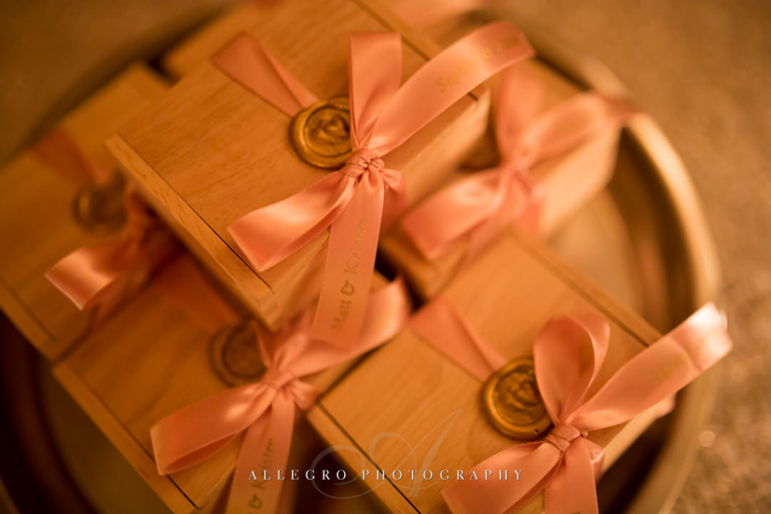 boston wedding gifts with wax seals - photo by allegro photography