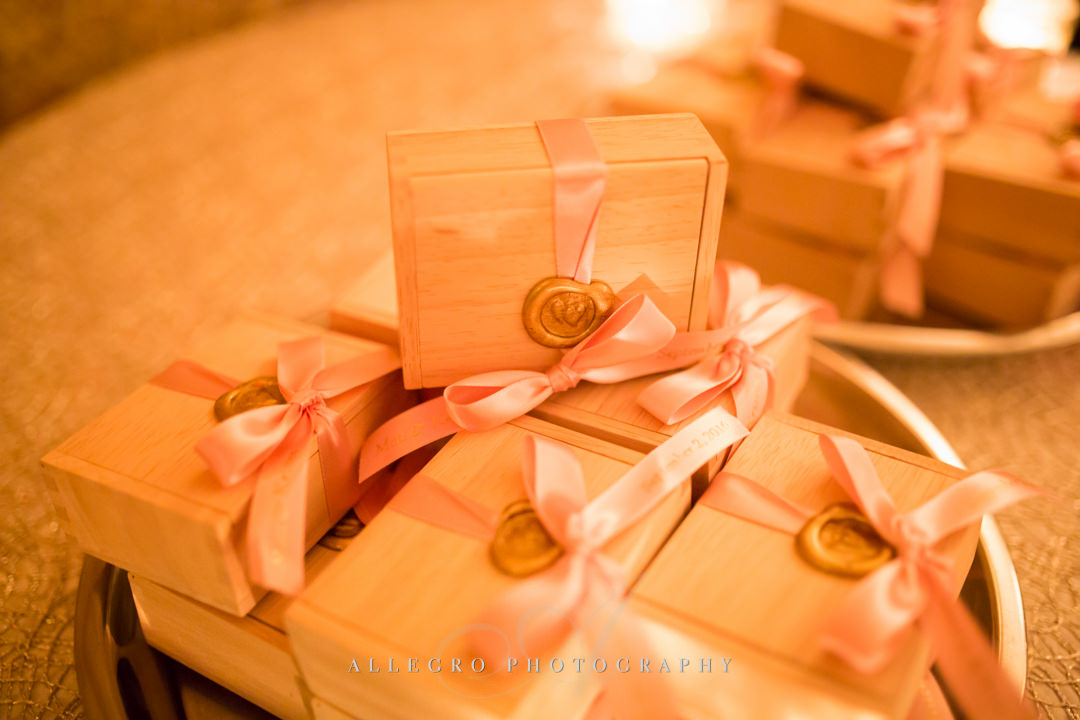 moo restaurant wedding gifts - photo by allegro photography